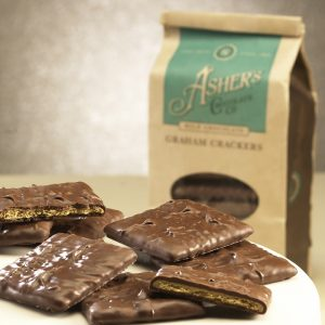 ASHERS MILK CHOCOLATE COVERED GRAHAM CRACKER